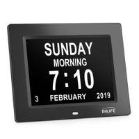 gebrauchte uhren großhandel-Inlife DDC - 8009 8-Zoll-Multifunktions-Digitalkalenderuhr mit 8 Alarmoptionen
