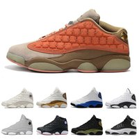 zapatillas carmelé al por mayor-2019 13 Flint Men Basketball Shoes 13s Bred Grey Toe Carmelo Anthony Phantom Chicago Zapatillas de deporte blancas Hyper Royal Black Cat 40-47