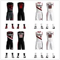 conjunto de uniforme de equipo al por mayor-2019 Juegos de camisetas de baloncesto Uniformes Kits Ropa deportiva Transpirable Custom College TEAM Camisetas de baloncesto Pantalones cortos Camisa