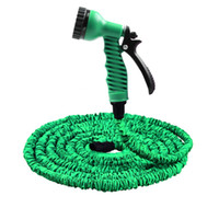 Wholesale green hose resale online - 25FT FT Garden Hose Expandable Magic Flexible Water Hose EU Plastic Hoses Pipe With Spray Gun To Watering