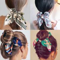 x baş toptan satış-13pcs Avrupa ve Amerikan Moda yeni inci kolye baskı saç halkası kadınların saç yay saç halat headdress X-4 düğümlü
