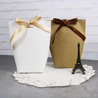 Thank You Merci Gift Bag Wedding Birthiday Party Favours Bags Handmade Item Bag Candy Jewelry Necktie Packaging Foldable Box XD22837