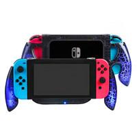 ps vita için kapaklar toptan satış-Yoteen Nintendo Anahtarı Konsolu için Taşınabilir Kolu Kavrama Gamepad Denetleyici Kavrama NS için Şarj Portu ile Standı Tutucu