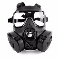 gesichtsmaske lüfter groihandel-1 PC-Cycling-Gesichtsmaske Weitsicht-Schutz Tactical Mask Erwachsene Full Face CS Zubehör mit Lüfter für Camping