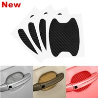 Wholesale car color stickers for sale - Group buy 4pcs Universal D Carbon Fiber Car Door Handle Paint Scratch Protector Sticker Auto Door Handle Scratch Cover Guard Protective Film