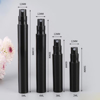 Wholesale plastic mini pump sprayers for sale - Group buy 2ml ml ml ml Mini Plastic Perfume Bottles Black Cosmetic Spray Bottles Mist Sprayer Pump for Travel
