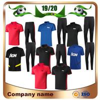 polo shirts sportbekleidung großhandel-Neu 19/20 United POGBA RASHFORD Polo Fußball Trikots 2019 LUKAKU Polo Trainingsanzug Sportswear UNITED Kits Fußball Uniformen
