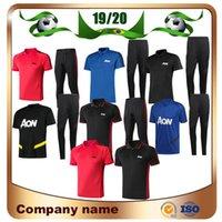 camisas de polo ropa deportiva al por mayor-Nuevo 19/20 United POGBA RASHFORD Polo camisetas de fútbol 2019 LUKAKU Polo Traje de entrenamiento Ropa deportiva UNITED Kits Uniformes de fútbol