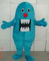 ingrosso costume di squalo blu-Costumi adulti dell'abito del fumetto della festa di compleanno di Halloween del grande costume della mascotte dello squalo blu di vendita calda di alta qualità trasporto libero