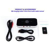 araba dijital tv alıcıları toptan satış-Kablosuz Bluetooth 2 1 Ses Adaptörleri Vericiler Alıcıları Dijital 3.5 MM Araba Kitleri Ev Streaming Stereo Ses Sistemleri Için iPad PC TV