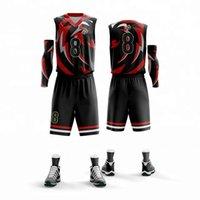jersey de poliéster de ajuste seco al por mayor-OEM Dry Fit transpirable Jersey de baloncesto Diseño uniforme 2019 más nuevo diseño de color jersey de baloncesto
