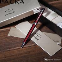 parker sonnet kugelschreiber großhandel-Kostenloser Versand Parker Pens Black Gold Sonnet Kugelschreiber Schule Büro Lieferanten Top-Qualität Unterschrift Pens Neuheit-Briefpapier-Geschenk