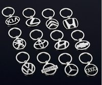 Wholesale keyring logos for sale - Group buy 3D Metal Double Side Car Logo Hollow out Keyring Key Chains Holder for NEW