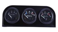 medidor de presión de aceite del coche al por mayor-B735 52 MM 3 en 1 medidor de autos Calibrador automático Temperatura del agua Sensor de presión de aceite Kit triple 3 en 1 medidores de autos de auto operación simple Envío gratis