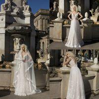 Wholesale champagne wedding dresses veil for sale - Group buy Daria Karlozi Wedding Dresses With m Veils Off Shoulder Lace Applique Floor Length Bridal Gowns Beach Bohemia robe de mariée
