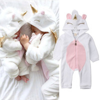 Wholesale girls sleep rompers for sale - Group buy Toddler Newborn Unicorn Baby Girls Boys Rompers Long Sleeve Infatnt Boy Girl Jumpsuit Sleeping Wear Photography Props