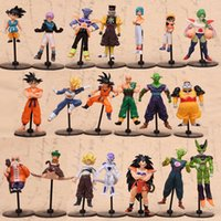 anime figur drachen ball gesetzt großhandel-Dragon Ball Actionfiguren Goku Puppe Zelle Freeza PVC Modell Geschenk Anime Mehrere Stile 10 stücke Set 19 5 km F1