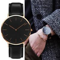 paslanmaz tarih saati otomatik çini izle toptan satış-Yeni moda Erkek watches 40mm Erkekler 36 Kadın Saatler Ünlü Lüks Kuvars saatı Relogio Montre Femme saatler womens