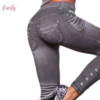 ingrosso tipo leggings-Work Out Leggings grigi Moda Demin stile Legging donna Leggings Trendy affare eccellente Jeans Tipo Legging Jeans