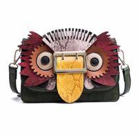 baykuş çantası rengi toptan satış-Marka Sevimli Baykuş Omuz Çantası Kadın Moda Tasarım Çanta Ve Çanta hayvan Flap Küçük Kadın Renk Küçük Kare Çanta 855 Vurdu