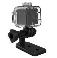 Wholesale micro full hd waterproof camera resale online - 50PCS SQ12 Mini Camera Sensor Night Vision Camcorder Motion DVR HD P Micro Camera Waterproof Shell Sport Video Small Camera