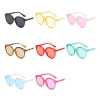 ingrosso telai di spettacolo trasparenti-Moda Donna Uomo Jelly Color Occhiali da sole Cornice trasparente Occhiali da sole Occhiali anti-UV Occhiali Occhiali da sole Occhiali da sole A ++