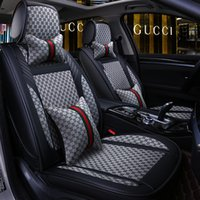 Wholesale black car seats for sale - Group buy PU Leather Auto Car Seat Covers Universal Size Automobile Covers For Toyota Hyundai Kia Lexus BMW Waterproof Auto interior