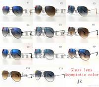 Wholesale progressive lenses glasses for sale - Progressive color lens brand HOT SALE summer luxury GOGGLE man UV400 protection Glass Sun glasses Fashion men women Pilot Sunglasses
