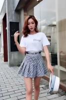 kolej etekleri toptan satış-Bayanlar Yaz Yeni Elbise Küçük Beyaz T Pileli Etek Ile Asırlık Kolej Yaşı
