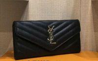 patchwork karierte handtaschen großhandel-Hohe Qualität Damen Geldbörsen und Geldbörsen Mode Große Kapazität Damen Geldbörse Rindsleder Luxus Handtaschen Frauen Taschen Designer