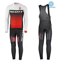 одежда из флисовой зимы оптовых-Скотт зима тепловой флис Велоспорт одежда износ велосипед MTB трикотажные изделия Велоспорт наборы мужчины Велоспорт Джерси наборы