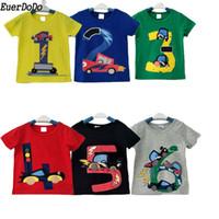Wholesale number cartoons for kids resale online - Cartoon Number Children T shirt Short Sleeve Shirts For Boys Cotton Girls T Shirt Kids Tops Baby Blouse Toddler
