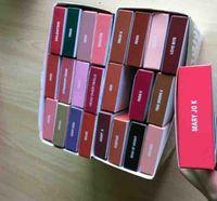 Wholesale red lips resale online - High Quality Brand LIP KIT Lipstick Lipliner Liquid Matte Lipstick in Red with white box Velvet Makeup
