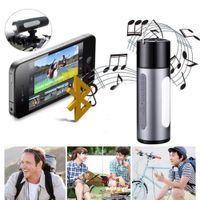lanterna impermeável mp3 venda por atacado-Alto-falantes Bluetooth Speaker Estéreo Sem Fio À Prova D 'Água LEVOU Banco de Potência Lanterna Subwoofer Portátil Carro MP3 Player Livre DHL