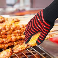 Wholesale bbq glove resale online - New Celsius Heat Resistant Gloves Great For Oven BBQ Baking Cooking Mitts In Insulated Silicone BBQ Gloves Kitchen Tastry Tools