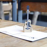 Funnybunny Guitarra Música Rock Hasta 3d Saludo Invitación De La Tarjeta De Cumpleaños