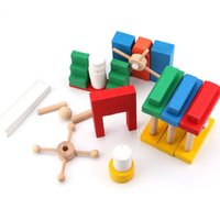 Wholesale building dominoes for sale - Group buy newBlocks Bricks Building Toy Child Wooden Colorful Puzzle Educational Toy Set Standard Domino Organ Code Card Building Block