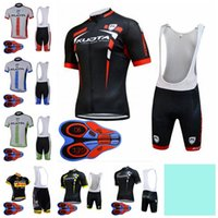 Wholesale kuota cycling team resale online - KUOTA team Cycling Short Sleeves jersey bib shorts sets men short sleeve bib shorts breathable outdoor sports jersey sets full zip S82330