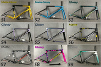 Wholesale road frames sale resale online - Top sale color T1000 UD SL6 carbon road bike frames frameset with BSA BB30 cm
