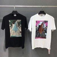 çift örtü toptan satış-2019 CAV Empt T Gömlek El Sıkışma Rahat Erkek Giyim Çiftler Karikatür Kapak Yüz Piyano En Tees CAV Empt T-shirt Streetwear