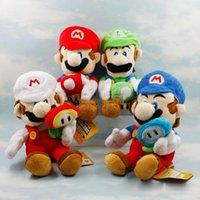 ingrosso funghi mario bros-2019 nuovo arrivo 4 stili giocattoli di peluche Mario Mushroom Funghi Luigi 18 cm Super Mario Bros giocattoli di peluche Super Mario Bros giocattoli di gioco