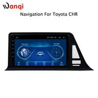 sistema de navegação toyota gps venda por atacado-Android 8.1 Carro DVD para toyota C-HR CHR C HR 2016-2018 Rádio Multimídia Player sistema de navegação GPS