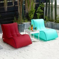 Wholesale couch chairs resale online - Inflatable Air Sleeping Bags Air Sofa Couch Portable Hangout Lounger Chair Lazy Inflate Camping Beach Sleeping Bed Outdoor Hammock colors