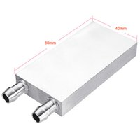 Wholesale cpu water block aluminum for sale - Group buy Aluminum Liquid Water Cooling Block for Computer Cpu Radiator for Pc and Laptop Cpu Silver Heat Sink System
