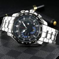 второе золото оптовых-New 6-pin multi-function male watch multi-function run second quartz movement band week function 316L fine steel gold steel coating anti-scr
