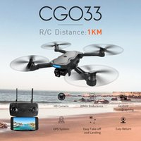 Wholesale rc camera gimbal for sale - Group buy Cg033 Brushless Fpv Quadcopter With p Hd Wifi Gimbal Camera Or No Camera Rc Helicopter Foldable Drone Gps Dron Kids Gift T190621