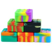 """Nonstick wax containers 26ml """"4+1"""" silicone box Jars Dab Reusable for Concentrate storage bottles"""
