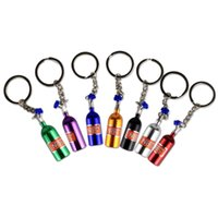Wholesale round metal keychain for sale - Group buy IN STOCK Fashion NOS Turbo Nitrogen Bottle Metal Keychain Key Ring Holder Car Keychain Pendant Jewelry for Women Men Mini Keyring