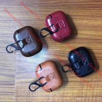 leder kopfhörer fällen groihandel-Mode-Abdeckung für Airpods Pro-Fall-Leder-Kopfhörer-Kasten für Apple Air Pods Pro 3 2 1 Kopfhörer Earpods Hakenbox Lade