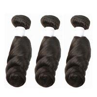 tejido de pelo directo al por mayor-Negro ondulado profundo, cuerpo de onda suelta, tejido a mano, cubierta de cabello, extensión de cabello, cabello humano natural de 8-28